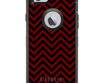 Custom OtterBox Defender Case for Apple iPhone 6 6S 7 8 PLUS X 10 - Monogram - Mississippi State MSU Bulldogs Colors - Chevron