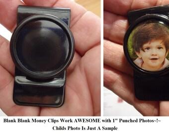 Black Money Clips 4) Pcs Blank Money Clips 25.4mm DIY Craft Jewelry FindingS Men Money Clip Cabachon Blank Money Clips Choice Free Epoxy