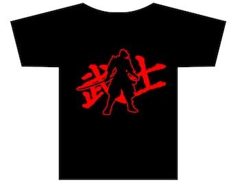 Samurai Kanji Character T-shirt