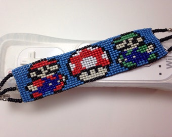 Super Mario Bros. Beaded Bracelet
