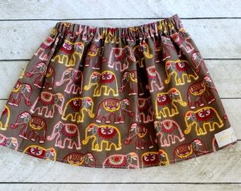 girls skirt fall skirt elephant skirt  summer skirt fall clothing birthday skirt