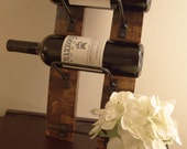 Wine Rack Mini, 3 bottle wine rack made from reclaimed wood wine