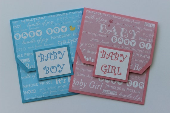 Baby Gift Cards Uk : Baby gift card holder girl boy shower