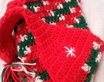 Christmas Baby Cocoon Matching Hat with Bell