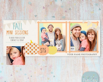 Fall Facebook Timeline - Photoshop Template -HF001 - INSTANT DOWNLOAD