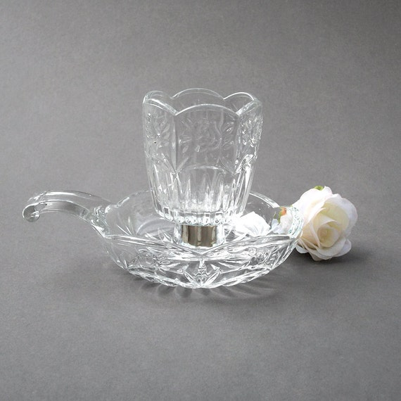 Home Interiors Glass Votive Cup And Holder Tea By