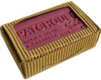 Patchouli Olive Oil Soap Triple Milled French soap for dry skin