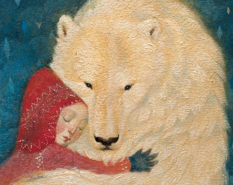 "Fine art greeting card ""Winter's embrace""."