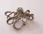 Stunning Octopus Cthulu Brooch Broach Pin Gorgeous