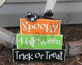 Halloween Wood Blocks
