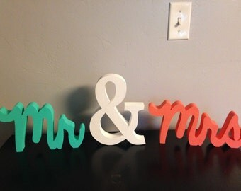 Mr. & Mrs. Wood letter decor. Wedding decor. Reception decor. Home decor. Love decor