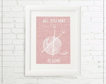 Illustration all you knit is love
