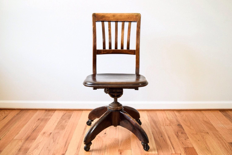 Antique desk chair antique office chair wood office chair for Wooden office chair design