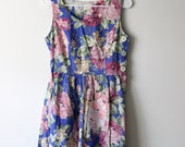 Perfect Floral Cotton Summer Dress - Size S