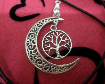 Tree of Life, Necklace, Choker, Choker Necklace, Charm Necklace, Charm Choker,