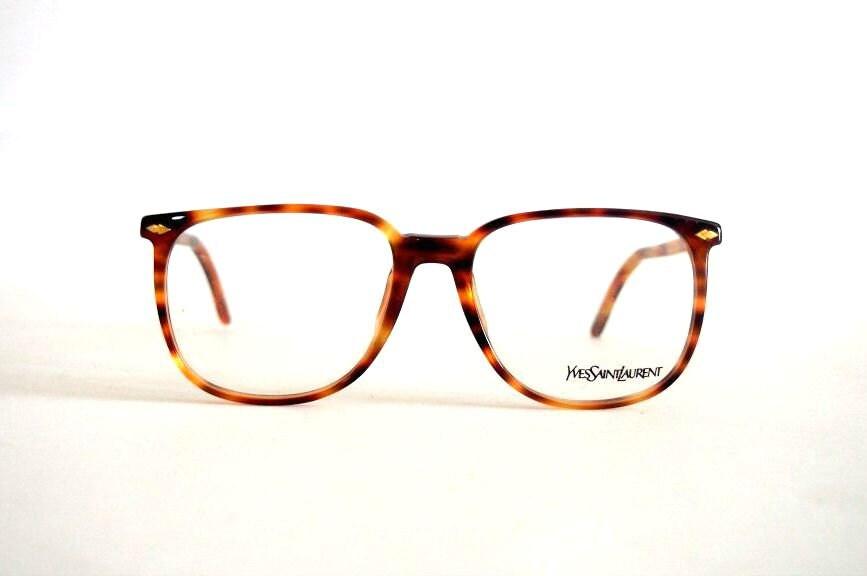 Ysl Glasses Frame : Vintage Eye glasses frames Yves Saint Laurent Wayfarer square