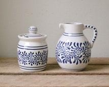 Handmade Creamer and Sugar Bowl Set - Made in Brazil