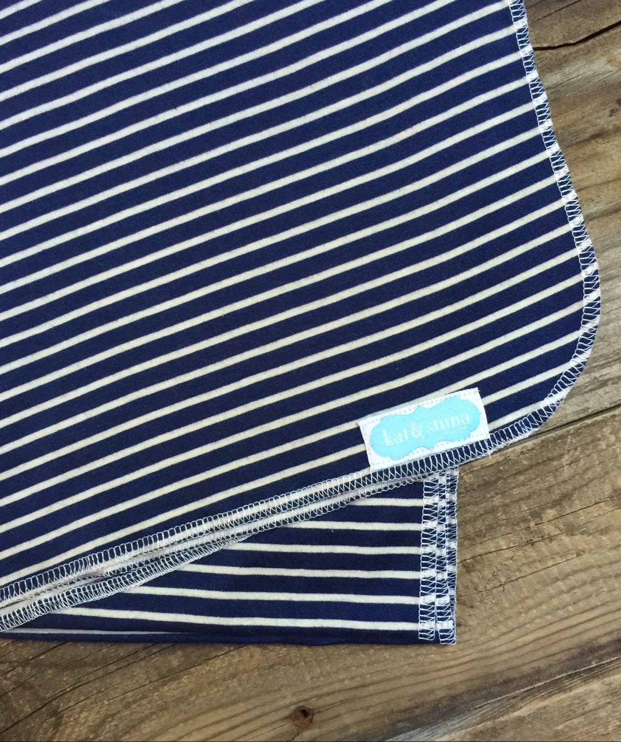 Navy And White Stripe Swaddle Blanket Photography Prop