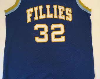 Women's Vintage Basketball Jersey - Fillies - 80's Basketball Jersey - Size 36 - Medium - Large - Vintage Jersey