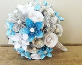 Paper Flower Bridal / Maid of Honor Bouquet