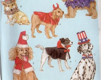 POOCH COSTUMES McCalls Pattern 4612 Dog Sizes XS Sm Med Lrg