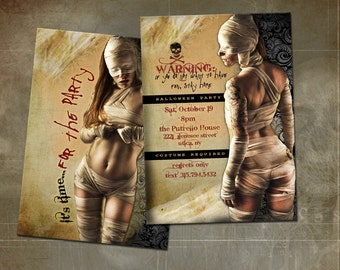Adult Halloween Party Invitation - Double Sided