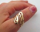Gold Statement Ring. Modern Gold Ring. Twist Ring.Dainty Rings. 14K Gold Filled Rings. Filigree Ring.Adjustable Rings. Artisan Swirl Ring