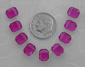 Swarovski Vintage Art 5105 Fuchsia Crystal Beads 8 x 6.5mm (8)