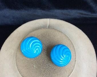 Vintage Blue Swirl Earrings