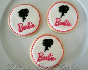 Barbie silhouette cookies