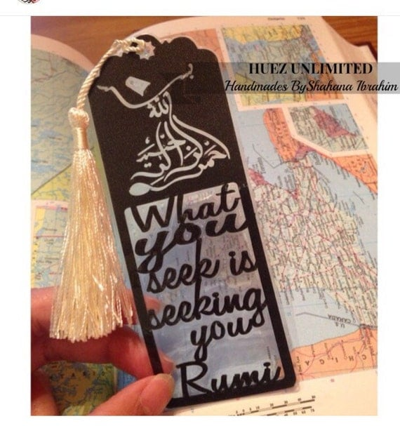 RUMI Art- What you seek is seeking your,RUMI Quote,Rumi Paper-Cut Bookmark,Rumi Art,Typographic Art,Word art,Motivational Art,Inspirational
