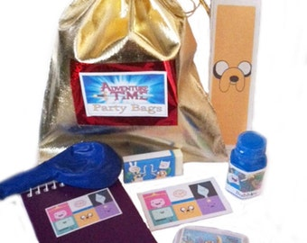 Adventure Time party/loot bags with 7 items inside