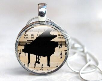 Music Jewellery - Piano Necklace - Glass Piano Jewellery