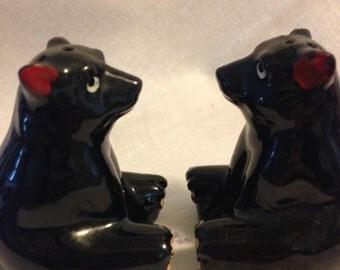 Bear Cubs Salt & Pepper Shakers, Very Old