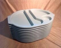 1980s Retro School Canteen Food Tray x1 (One)