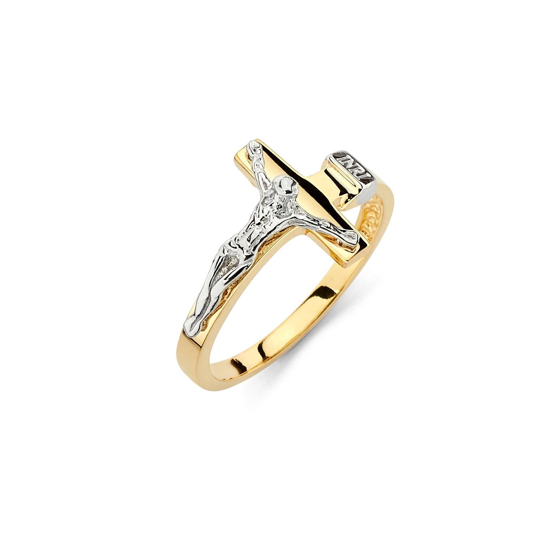 14k Solid Gold Crucifix Ring Crucifix Ring Crucifix Jewelry