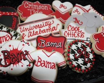 Alabama Football Cookies, Alabama, Football Cookies, College Football, Elephants, University of Alabama