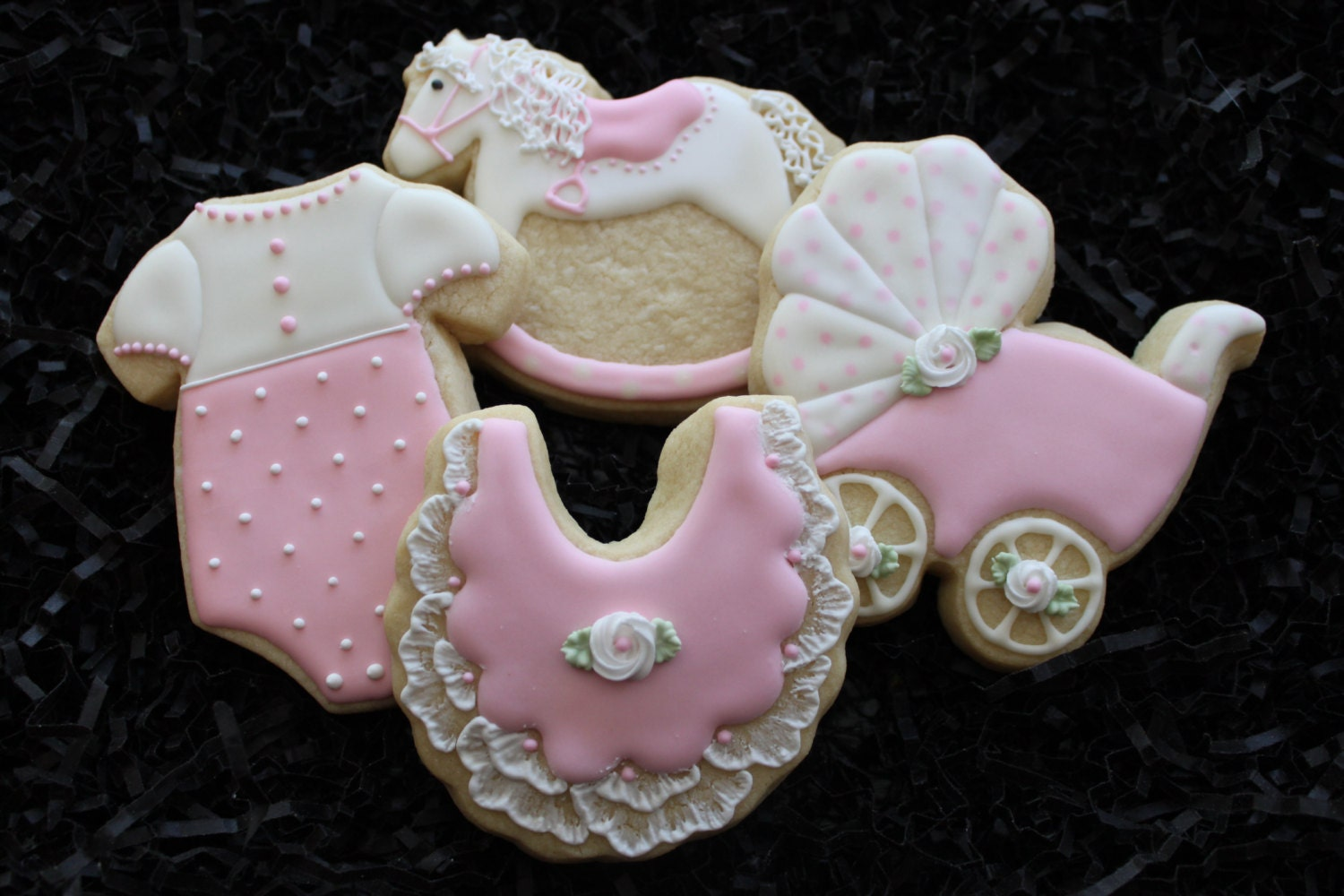 baby shower cookie favors rocking horse cookies carriage
