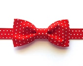 Boys Red Bow Tie, Baby Bow Tie, Christmas, Wedding, Photo Prop by 8th Day Studio