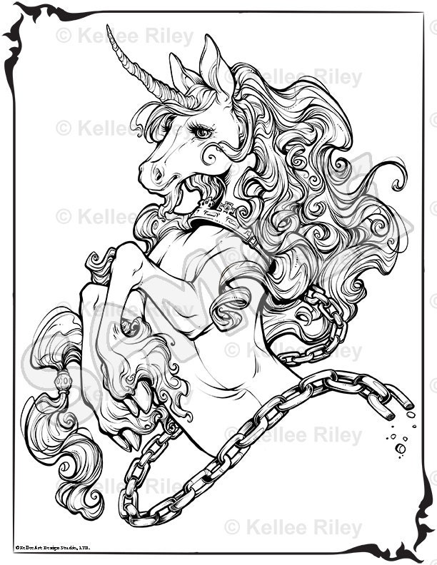 Unicorns Coloring Pages For Adults Unicorn Adult Coloring...