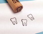 Tiny Tooth Rubber Stamp, molar, dentist, dental