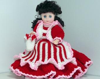 Peppermint Candy Crochet Doll