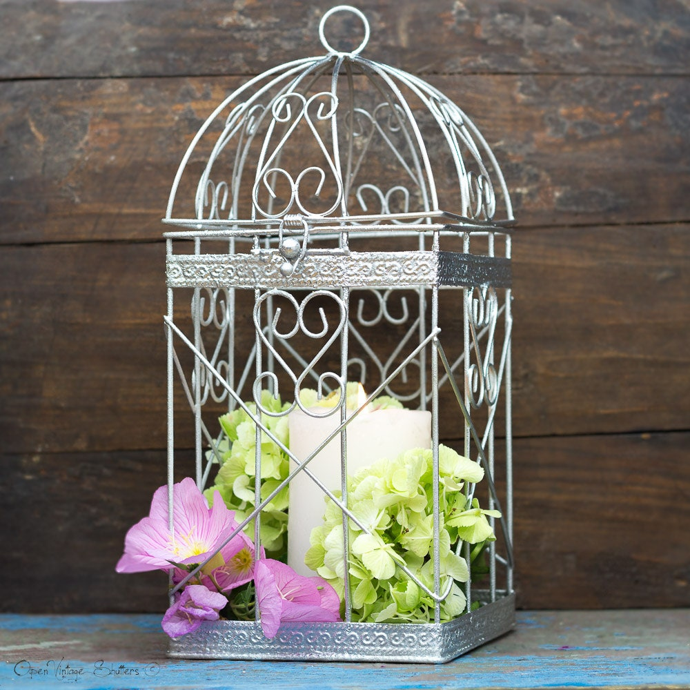Birdcage Wedding Card Holder: Birdcage Card Holder Silver Money Box Wedding Birdcage Card