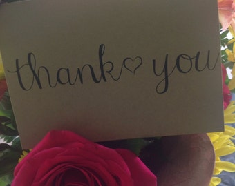 Handmade With Love Thank You Notes