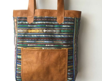 Ethically Sourced, Fair Trade Tote Purse, Upcycled