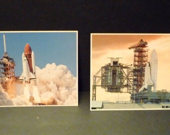 Two large Shuttle Postcards ~ Challenger and Enterprise