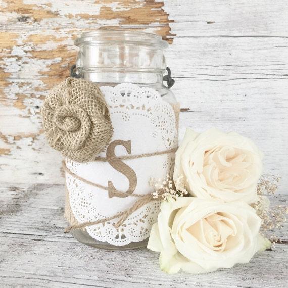Country Wedding Centerpieces Mason Jars: Items Similar To Rustic Wedding Decor Ideas, Rustic
