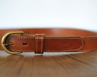 Vintage RIFLE leather belt size M