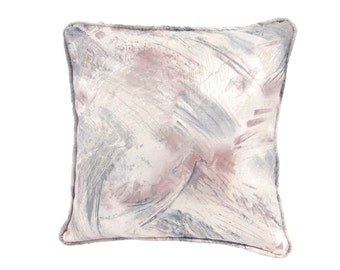 Pink, Gray, Beige 18 Inch Decorative Pillow, Accent Pillow, Throw Pillow, Includes Insert