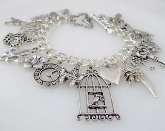 Whimsical Loaded Charm Bracelet